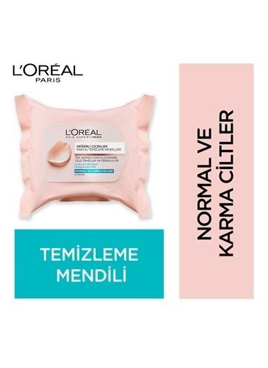 L'Oréal Paris Değerli Çiçekler Makyaj Temizleme Mendilleri Normal Ve Karma Ciltler Renkli